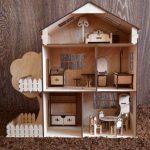 Кукольный домик, дом для кукол +МЕБЕЛЬ В ПОДАРОК