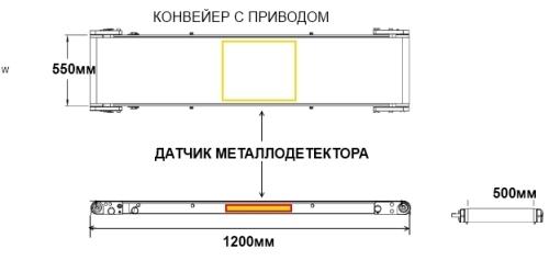 Металлодетектор Конвейерный MDC-MAX-K